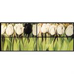 ZilenZio absorbenter Dezign kunsttrykk Hvit tulipan