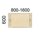 Contur Rektangulære bord 60