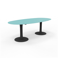 Quadrio Møtesbord  Quadrio ovalt glassbord