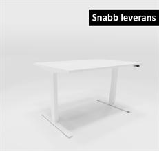 BASIC Hev- og senkbare Hev og senk skrivebord 120x80 cm