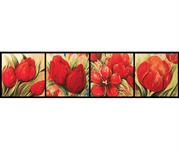 ZilenZio absorbenter Dezign kunsttrykk Rød tulipan